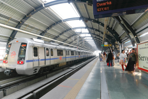 Delhi, India Metro Train