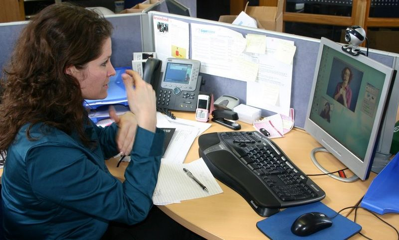 Hearing Impaired Person at Workplace_Wikimedia Commons