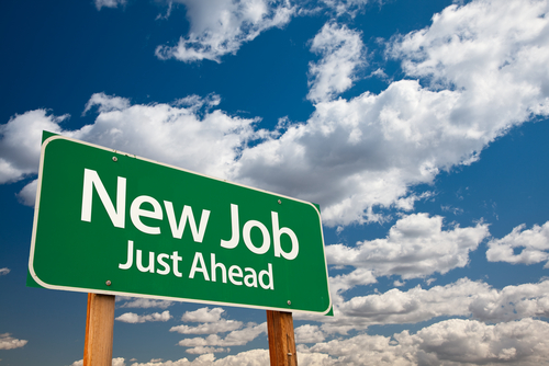JOB AHEAD SIGN
